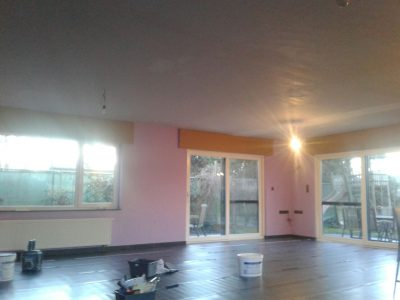 Kamer klaargemaakt voor schilderwerken
